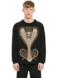Givenchy Cobra Jacquard Cotton Knit Sweater