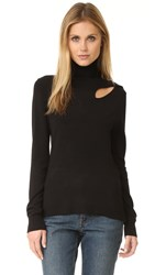525 America Cutout Turtleneck Sweater Black