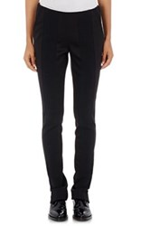 Paco Rabanne Women's Tech Pique And Rib Knit Slim Trousers Black