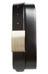Men's Canali Reversible Leather Belt With Two Buckles