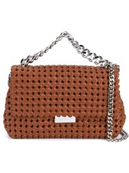 Stella Mccartney Small Soft Beckett Weave Shoulder Bag Brown