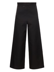 Toga Lace Up Wide Leg Wool Blend Trousers
