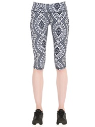 Prana Printed Microfiber Leggings Black