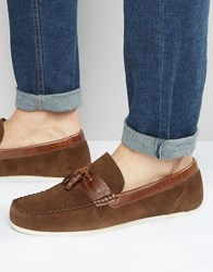 Red Tape Loafers In Brown Suede Brown
