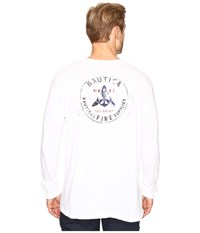 Nautica Booth Bay Bright White Men's Long Sleeve Pullover
