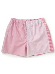 Emma Willis Pink Patchwork Swiss Cotton Boxer Shorts