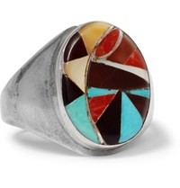 Foundwell Vintage Sterling Silver Multi Stone Ring Silver