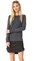 Veronica Beard Combo Sweater Shirtdress Charcoal