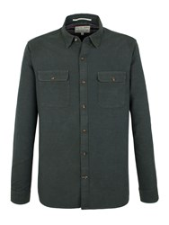 Racing Green Ernest Solid Oxford Shirt Olive