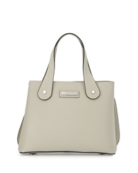 Charles Jourdan Weber Saffiano Leather Tote Bag Bone
