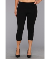 Lysse Plus Size Cotton Capri 12150 Black Women's Capri
