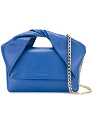 J.W.Anderson J.W. Anderson 'Twist' Handle Clutch Bag Blue