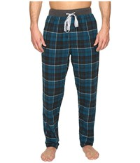 Kenneth Cole Reaction Banded Flannel Pants Moroccan Blue Men's Pajama