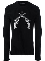 Dolce And Gabbana Pistol Patch Jumper Black