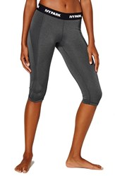 Women's Ivy Park 'I' Low Rise Capri Leggings Dark Grey Marl