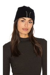 Autumn Cashmere Lace Up Beanie Black