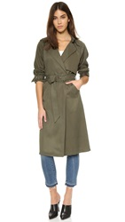 Mason By Michelle Mason Trench Coat Olive