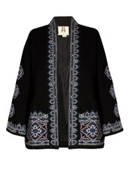 Figue Haveli Embroidered Wool And Cashmere Blend Jacket Black Multi