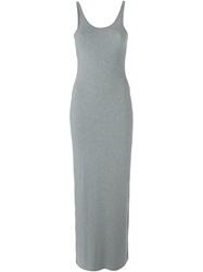 T By Alexander Wang Fitted Tank Dress Grey