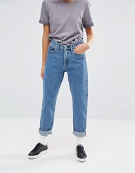 Carhartt Wip High Rise Carrot Mom Jeans Blue