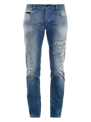 Gold Fit Distressed Slim Fit Jeans