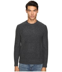 Vince Boiled Cashmere Crew Neck Sweater Heather Carbon Men's Sweater Gray