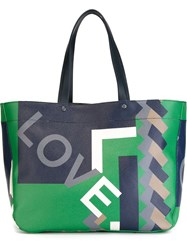 Salvatore Ferragamo Love Geometric Print Tote Multicolour