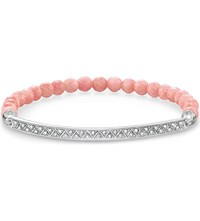 Thomas Sabo Love Bridge Bamboo Coral Pave Zirconia Sterling Silver Bridge Bracelet