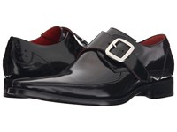 Jeffery West Apron Monk Black Antique Men's Shoes