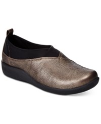 Clarks Collection Women's Cloud Steppers Sillian Greer Sneakers Women's Shoes Pewter Metallic