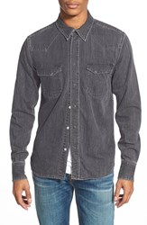 Men's Nudie Jeans 'Jonis' Washed Denim Western Shirt