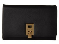 Michael Kors Miranda Medium Wallet With Shoulder Strap Black Cross Body Handbags