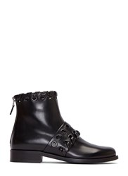 Fendi Loop Threaded Ankle Boots Black