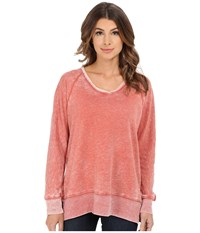 Allen Allen Long Sleeve Raglan Vee Tunic Sweet Potato Women's Sweater Brown
