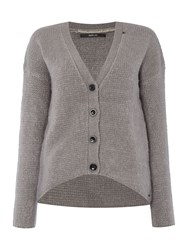 Replay Wool Cardigan Grey