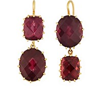 Renee Lewis Women's Pink Tourmaline Double Drop Earrings No Color