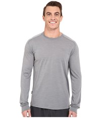 Icebreaker Sphere L S Crewe Fossil Heather Fossil Heather Men's Long Sleeve Pullover Gray