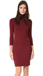 Susana Monaco Cat Turtleneck Dress Oxblood