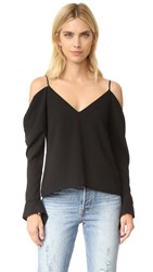 C Meo Collective Cold Shoulder Top Black