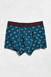 Urban Outfitters Floral Burst Trunk Teal