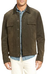 Vince Men's Suede Trucker Jacket