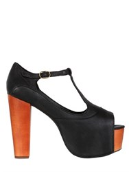 Jeffrey Campbell 120Mm Foxy Leather T Strap Sandals