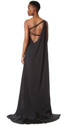 Kaufman Franco One Shoulder Gown Onyx