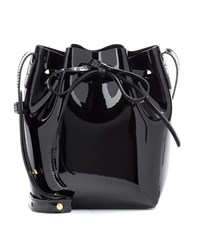 Mansur Gavriel Mini Mini Patent Leather Bucket Bag Black