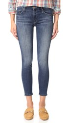 Mother Looker Crop Skinny Jeans Here Kitty Kitty