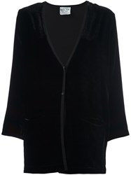 Forte Forte Velvet Pocket Cardigan Black