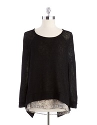 Casual Couture By Green Envelope Layered Effect Sweater Black