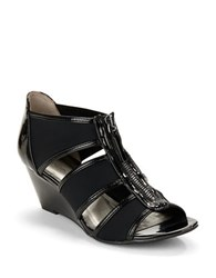 Bandolino Opie Wedge Sandals Black