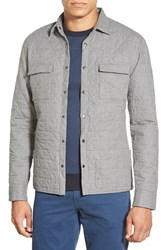 Men's Boss 'Rain' Slim Fit Quilted Cotton Shirt Jacket