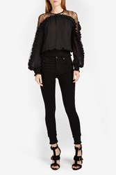 Elie Saab Women S Ruffled Silk Blouse Boutique1 Black